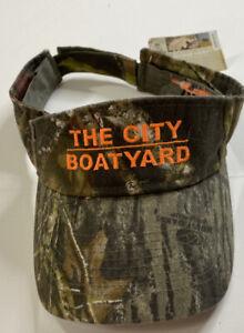 Mossy Oak City Boat Yard Cap Sun Visor Ball Cap Camo Print NWT