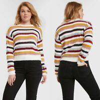 Cupcakes and Cashmere Rach Multi Stripe Sweater SMALL