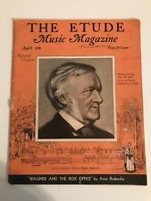 Vintage The Etude Music Magazine April 1938 Carl Maria Von Weber