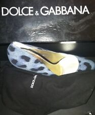 Dolce Gabbana Denim Polka Dot Shoes