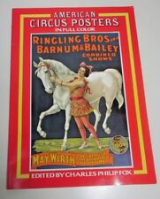AMERICAN CIRCUS POSTERS in Full Color ~ Edited by Charles Philip Fox ~ 1978