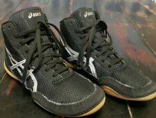 NEW! ASICS Matflex Wrestling Shoes Youth Size  2.5 Model C545N Black/Silver