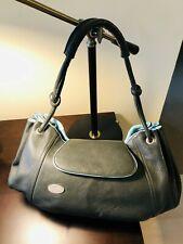OWA by Bernd Michael Ostwald olive and baby blue leather handbag