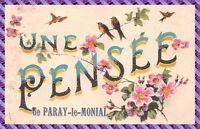 Carte postale - Une Pensée de Paray le Monial