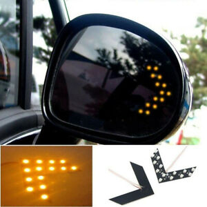 2x LED Turn Signal Light Rear View Mirror Arrow Panels Indicator Light 14SMD