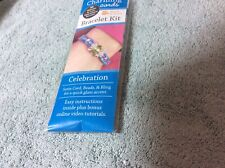Leisure Arts Charming Cords Bracelet Kit Celebration New