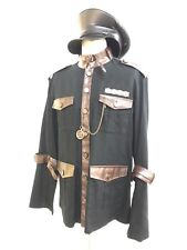 SDL Steampunk Heavy Black Cotton Military Jacket L / CompasS & Military Hat 59cm