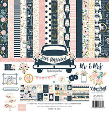 Echo Park JUST MARRIED Collection Kit 12x12 gold foil on 6 pages