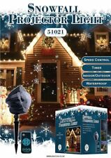 Moving Snowfall LED Projector Light Snowflakes Lamp Christmas Garden Decorations