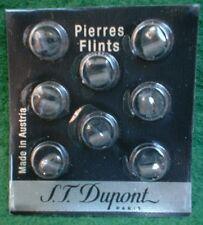 BLISTER PACK OF 8 GENUINE ST DUPONT GREY/BLACK FLINTS