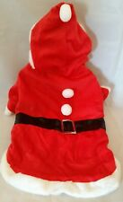 Christmas Santa Claus Pet Dog Costume Outift Size Large 16 - 20lbs Claire's NWT