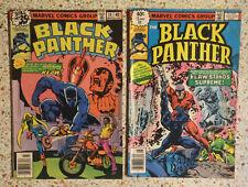 LOT! BLACK PANTHER 1978 & 1979 Marvel Comics Group #14 #15 Superhero/collectib
