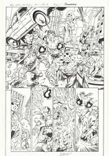 All-New X-Men #1 p.9 Cyclops vs Ghosts of Cyclops Splash 2016 art by Mark Bagley Comic Art