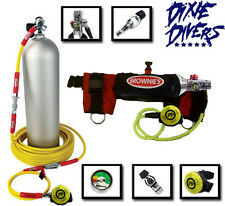 Brownies Kayak Diver & Egressor Kit 60 Feet Long Hose Scuba Tank Regulator Pony