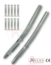 Bone Scrapers Curved Harvesting instruments Dental Implant  with Free 10 Blades