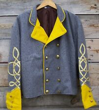civil war confederate reenactor cavalry shell jacket with 4 braids 42