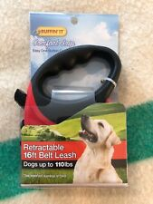 New listing Ruffin It Comfort Grip 16' Retractable Belt Leash 98627. Up To 110Lbs, New.