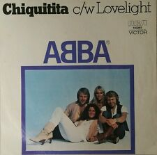 ABBA Chiquitita / c/w Lovelight Vinyl Single 45 Record 1979 Aus W Open Pic