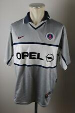 Paris Saint-Germain Trikot Gr. L Jersey 2000-2001 Nike Away PSG silber