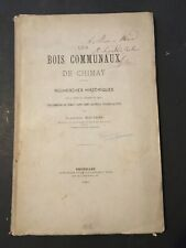 [0201-D8] Wauters - Les Bois Communaux de Chimay - 1881