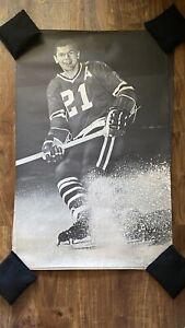 Vintage Stan Mikita 24x36 B/W Poster Chicago Blackhawks NHL Hockey