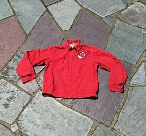 Retro Red Amco Zip Jacket Coat w/ Cleveland Indians w/ Chief Wahoo Patch Logo