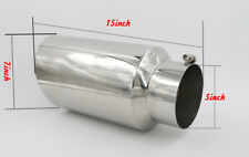 "5"" Inlet 7"" Outlet - 15"" Long Stainless Steel Rolled Edge 20° Exhaust Tip Diesel"