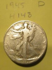 H148H1018 - Silver Walking Liberty Half Dollar 1945 D - Free Shipping