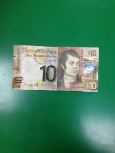 Ten Pound Paper NOTE 2009 Clydesdale Bank W-JT 000 745