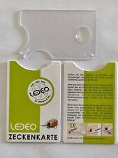 2 x  Zeckenkarte mit Lupe transparent - Hülle + Anleitung