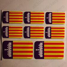 Pegatinas Mallorca España Pegatina Bandera Adhesivo Ciudad 3D Relieve Resina