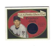 Brad Radke Topps 2005 Cracker Jack 1,2,3 Strikes UR Out Jersey Cd # SO-BR