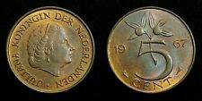 Netherlands - Juliana 5 Cent 1967 vrijwel FDC originele muntkleur