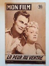 MON FILM N°506 1956 LA PEUR AU VENTRE / JACK PALANCE - SHELLEY WINTERS