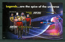 Gambia 2016 MNH Star Trek 50th The Next Generation 2v S/S Picard Riker Stamps