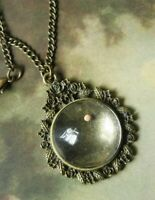 Victorian Trading Co Mustard Seed Pendant Necklace Engraved on Back NIB