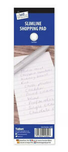 4 x Slimline Shopping Pads To Do List NotePad Grocery List Sheets Handy Size