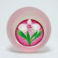 CORREIA ORCHID PAPERWEIGHT 12/200 LIMITED EDITION 1984 ART GLASS