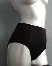 1e62d7ba3bf18 Nwt Victorias Secret High Waist Solid Black Smocked Side Bikini Bottom