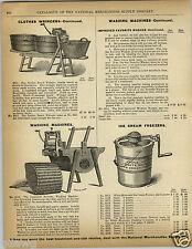 1892 PAPER AD White Mountain Ice Cream Freezer Maker RM Ball's Washing Machine