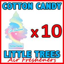 10 x COTTON CANDY LITTLE TREES AIR FRESHENERS Car Home Fragrance Freshener Scent