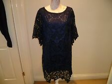 "Monsoon ""Tilia"" stunning ladies navy lace dress size 16 - BNWOT"