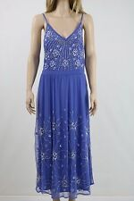 Frock and Frill Embellished Midi Dress With Strap Detail UK SIZE 12