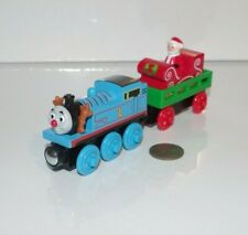 Thomas Friends Wooden Railway Train Tank Santa's Little Engine & Delivery Coach