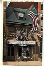 DB88.Vintage US Postcard.Betsy Ross House. Philadelphia.Birthplace of Old Glory