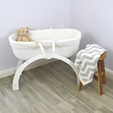 Shnuggle Dreami Baby Sleeper Moses Basket & Stand White Base