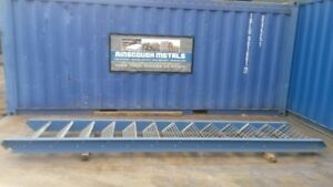 Blue With Galvanised Floor Forge Treads Used Mezzanine Steel Staircase 3.080 Mtr