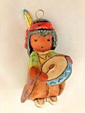 "Goebel Hummel 3 1/2"" Boy With Feather Hat & Drum Figurine Ornament"