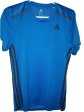 Small Blue Adidas Climacool Shirt (Adidas Strips) 100% Polyester Mesh Back
