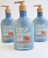 BATH & BODY WORKS CRISP MORNING AIR NOURISHING HAND SOAP X3 NEW